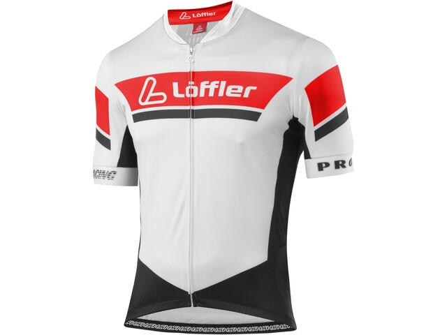 Löffler Pro Racing FZ Bike Trikot Herren weiß/rot